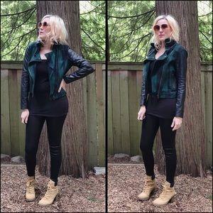 Cool Chick, AKIRA, plaid/faux, moto  jacket!!